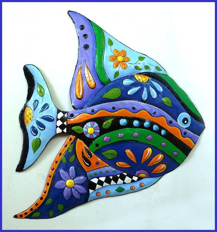 222 Best Tropical Fish Designs – Painted Metal Home Decor In Funky Metal Wall Art (Image 2 of 20)