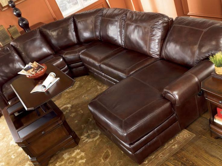 23 Best Leather Sectional Images On Pinterest | Leather Sectionals Within Ashley Furniture Leather Sectional Sofas (Image 1 of 20)