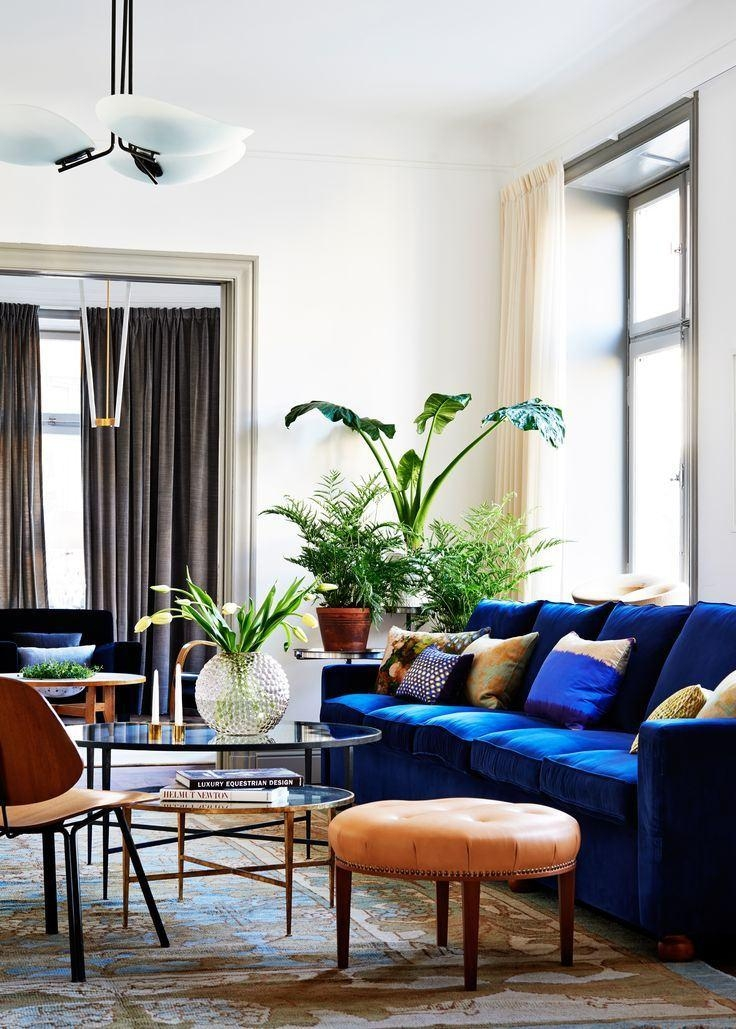 23 Colorful Sofas To Break The Monotony In Your Living Room – Homelovr With Regard To Living Room With Blue Sofas (View 17 of 20)