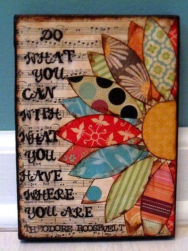 234 Best Things To Do With Scrapbook Paper Images On Pinterest Pertaining To Decoupage Wall Art (Image 3 of 20)