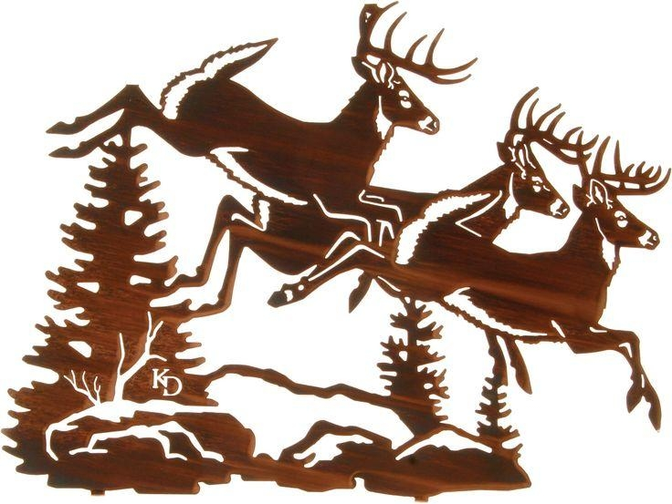 24 Best Deer Wall Art Images On Pinterest | Metal Walls, Metal Regarding Lazart Metal Art (View 3 of 20)