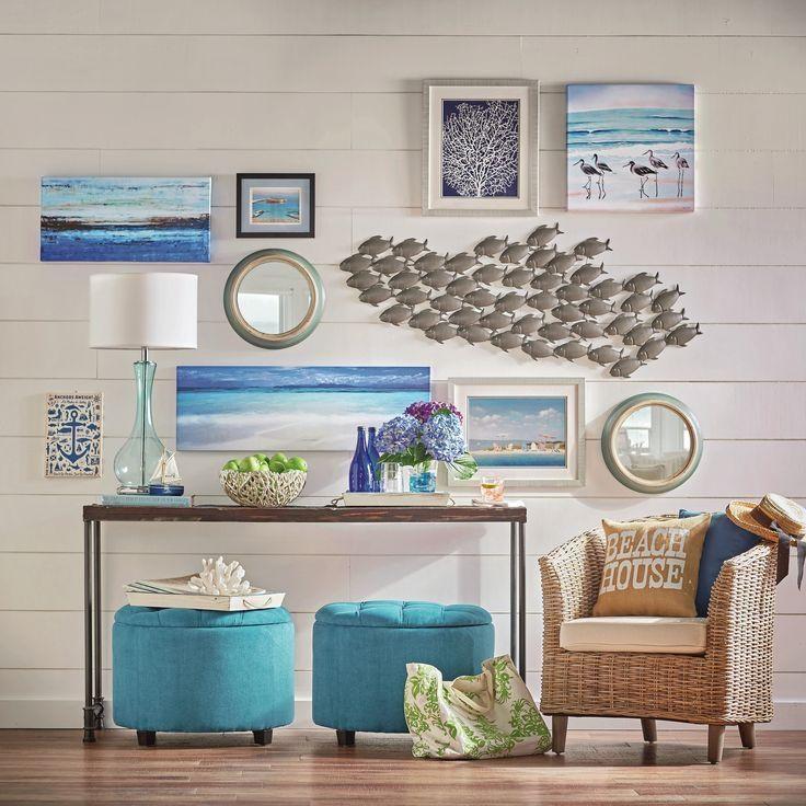 240 Best Coastal Wall Decor | Shop & Diy Images On Pinterest Pertaining To Coastal Wall Art (Image 2 of 20)
