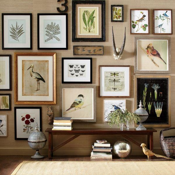 245 Best Eclectic Gallery Wall Images On Pinterest | Home, Gallery Inside Brown Framed Wall Art (Image 2 of 20)
