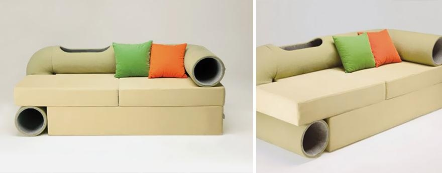 25 Awesome Furniture Design Ideas For Cat Lovers | Bored Panda Pertaining To Cat Tunnel Couches (Image 4 of 20)