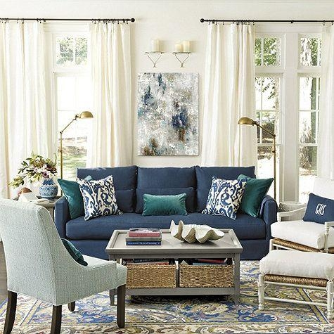 25+ Best Blue Couches Ideas On Pinterest | Navy Couch, Blue Sofas Pertaining To Living Room With Blue Sofas (Image 8 of 20)