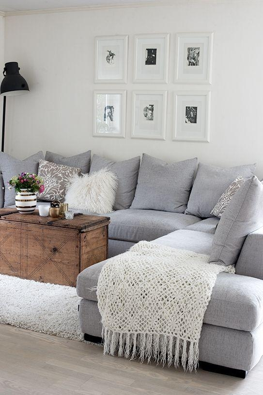 25+ Best Grey Couch Rooms Ideas On Pinterest | Grey Living Room Throughout Blue Grey Sofas (Image 2 of 20)