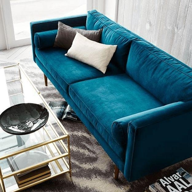25+ Best Ideas About Blue Sofas On Pinterest | Navy Blue Couches With Regard To Blue Sofas (Image 3 of 20)