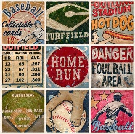 20 Inspirations Vintage Baseball Wall Art Wall Art Ideas