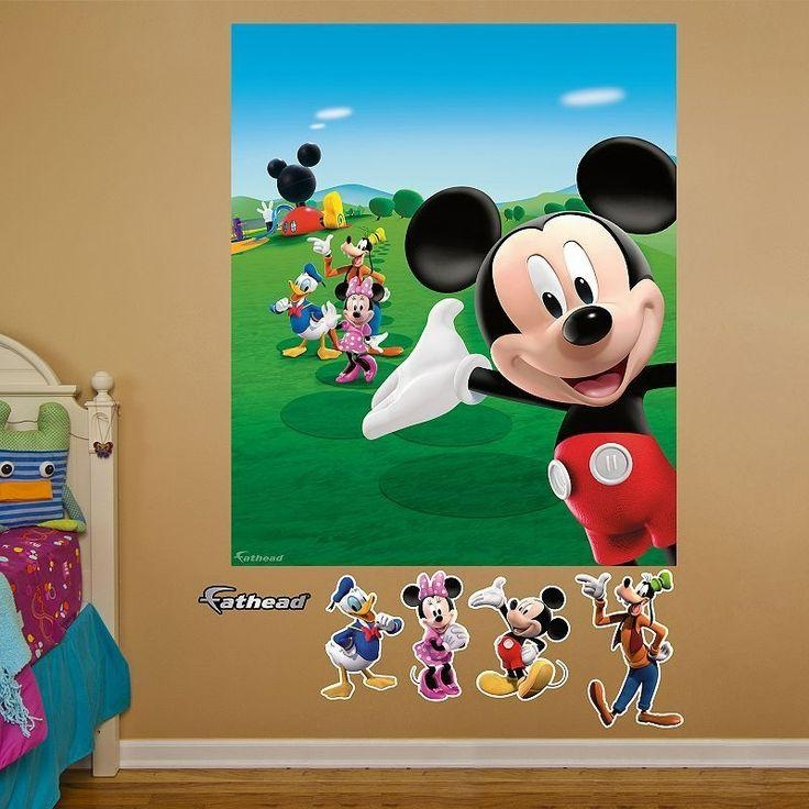 25+ Best Mickey Mouse Wall Decals Ideas On Pinterest | Minnie With Mickey Mouse Clubhouse Wall Art (Image 4 of 20)