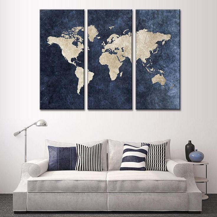 25+ Best Navy Blue Decor Ideas On Pinterest | Navy Master Bedroom With Navy Blue Wall Art (View 12 of 20)