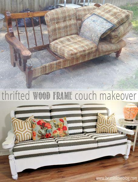 25+ Best Reupholster Couch Ideas On Pinterest | Sofa Covers Online With Reupholster Sofas Cushions (View 18 of 20)