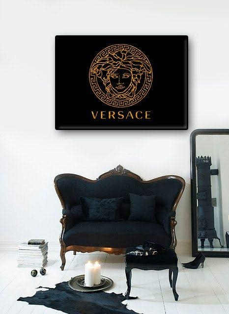 25+ Best Versace Logo Ideas On Pinterest | Fashion Fonts, Versace With Regard To Versace Wall Art (Image 2 of 20)