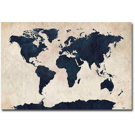 25+ Best World Map Canvas Ideas On Pinterest | World Map Art, Map Regarding World Wall Art (Image 2 of 20)