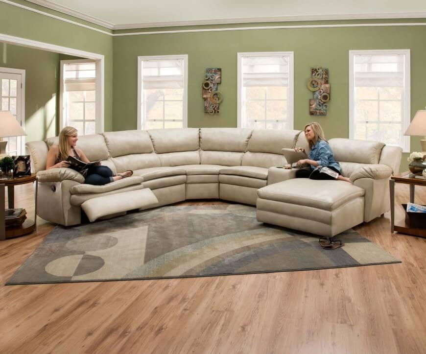 25 Contemporary Curved And Round Sectional Sofas Pertaining To Curved Sectional Sofas With Recliner (Image 1 of 20)
