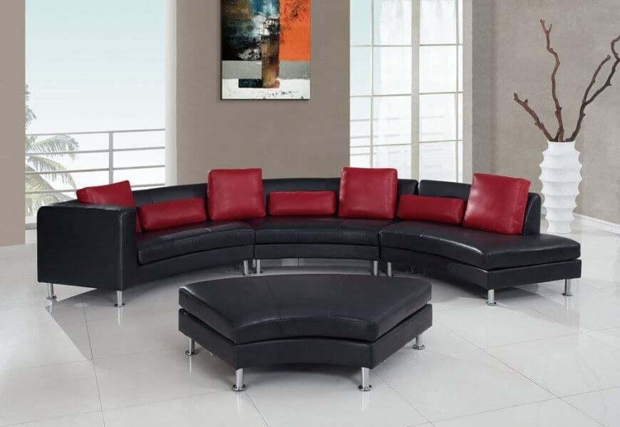 25 Contemporary Curved And Round Sectional Sofas Throughout Curved Sectional Sofas With Recliner (Image 2 of 20)