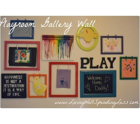 25 Totally Awesome & Innovative Diy Projects For The Playroom In Wall Art For Playroom (Image 3 of 20)