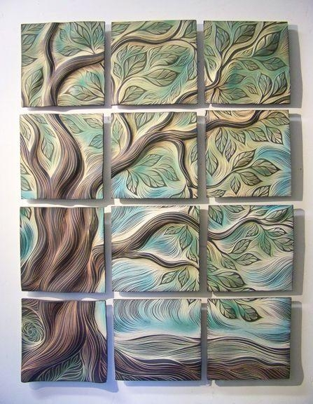254 Best Ceramic Wall Hanging Ideas Images On Pinterest | Pottery Pertaining To Ceramic Tile Wall Art (Image 1 of 20)