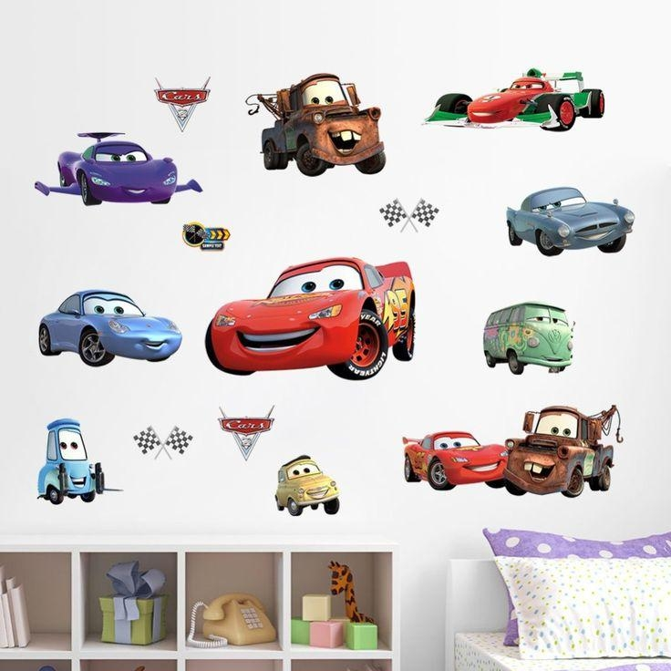 254 Best Products Images On Pinterest | Wall Stickers For Kids Throughout Lightning Mcqueen Wall Art (Image 1 of 20)