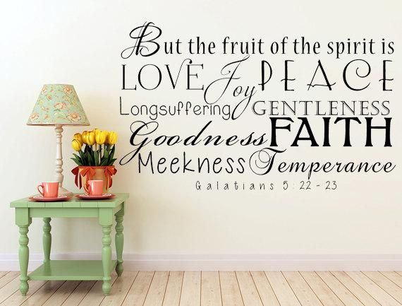 26 Kjv Wall Decals, An Extra Added Feature About This Wall Decal With Fruit Of The Spirit Wall Art (Image 2 of 20)