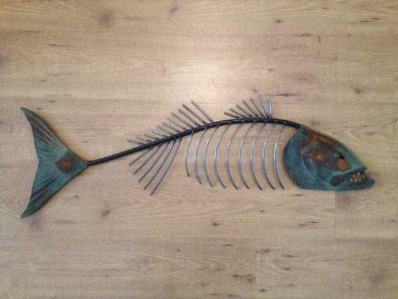 27 Best Fish Art Images On Pinterest | Fish Art, Fish Sculpture Inside Fish Bone Wall Art (Image 2 of 20)