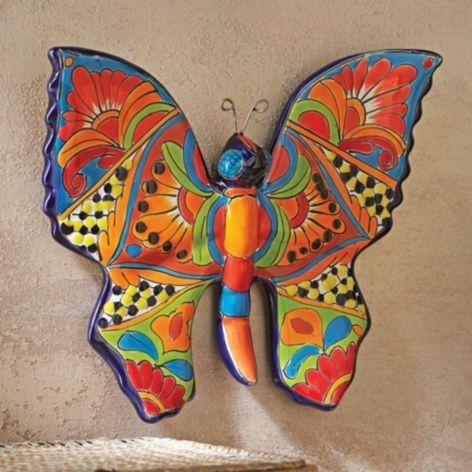 27 Best Mexican Art Images On Pinterest | Sun Art, Mexican Art And Intended For Ceramic Butterfly Wall Art (Image 2 of 20)