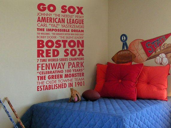 27 Best Nono's Room Images On Pinterest | Boston Red Sox, Socks In Red Sox Wall Decals (View 4 of 20)