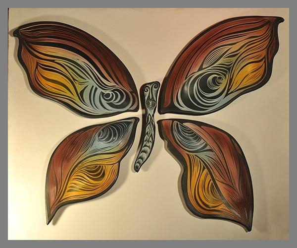 27 Best Pottery And Ceramic Wall Art Images On Pinterest | Ceramic Regarding Ceramic Butterfly Wall Art (Image 3 of 20)