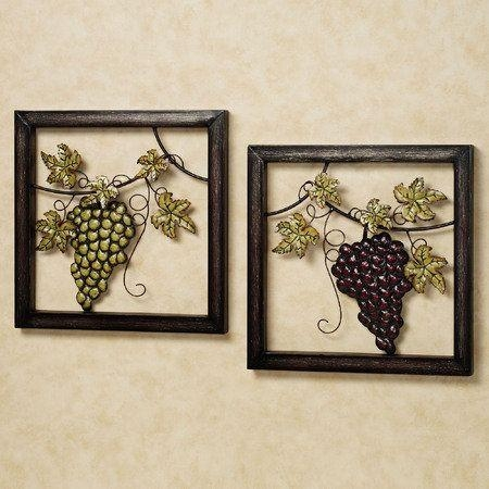 274 Best Wine Decor Images On Pinterest | Wine Decor, Home And Regarding Grape Wall Art (Image 2 of 20)