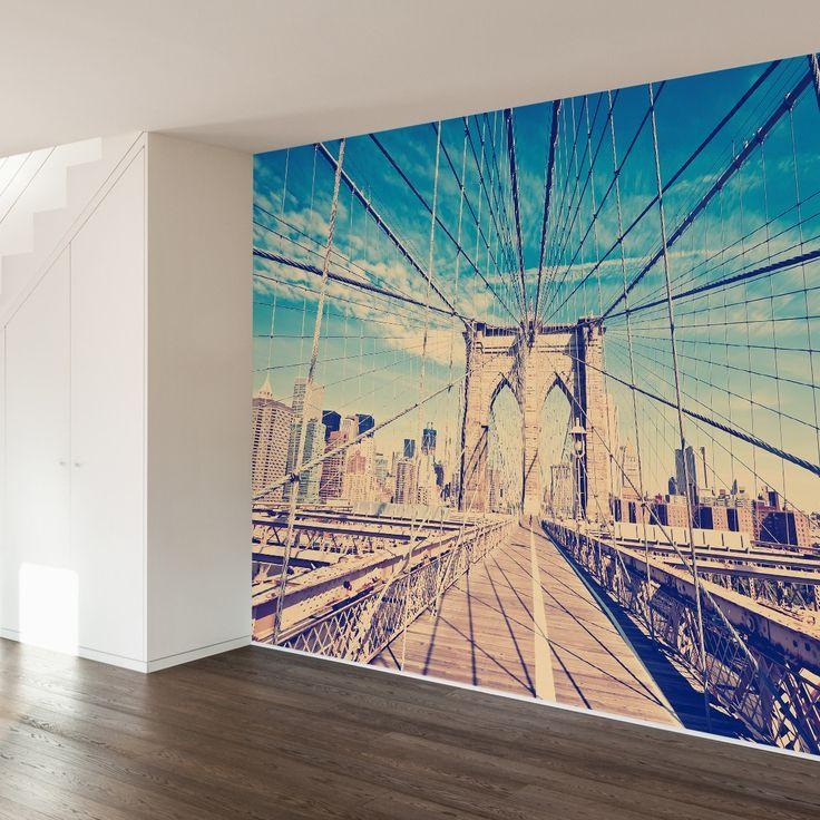 28 Best Wall Images On Pinterest | Brooklyn Bridge, Bridges And Pertaining To Brooklyn Bridge Wall Decals (Image 2 of 20)
