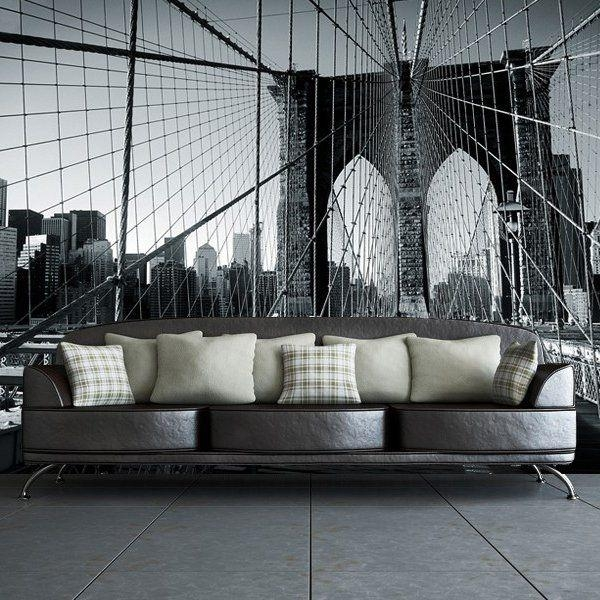 28 Best Wall Images On Pinterest | Brooklyn Bridge, Bridges And With Brooklyn Bridge Wall Decals (Image 3 of 20)