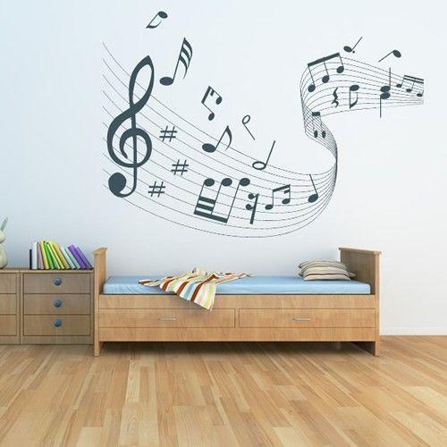 28 Best Wall Sticker Images On Pinterest | Wall Sticker, Music Regarding Music Note Art For Walls (View 14 of 20)