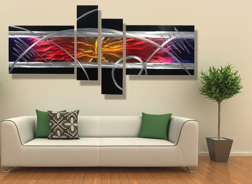 28+ [ Contemporary Wall Art Decor ] | Modern Painting Wood Wall Within Contemporary Metal Wall Art Sculpture (Image 6 of 20)