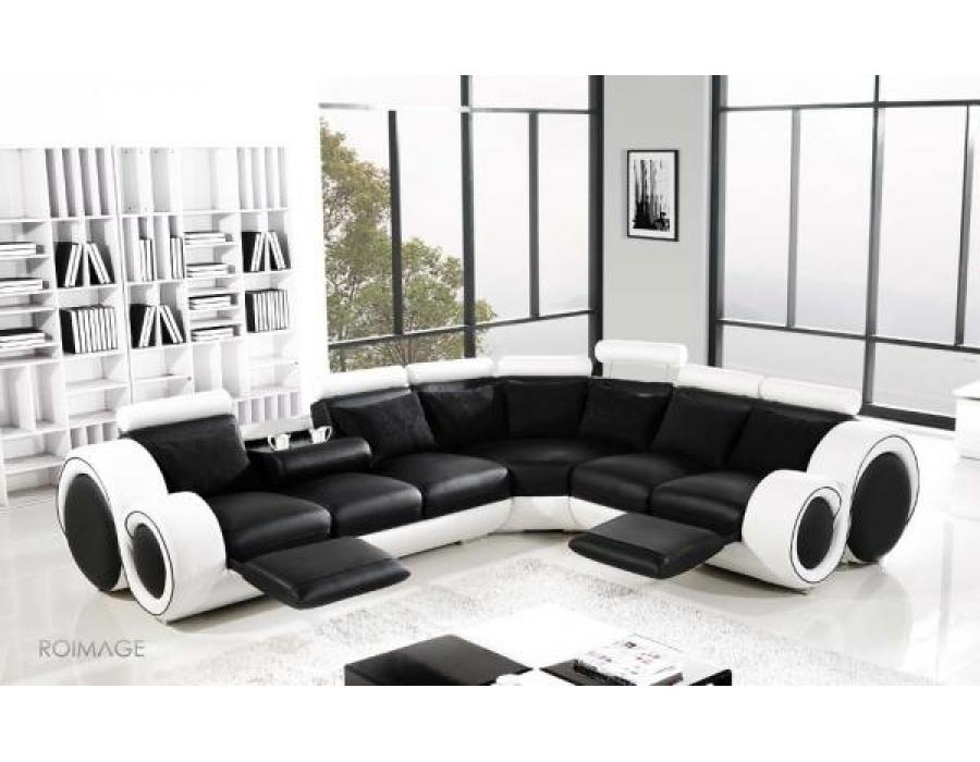 28 Leather Corner Sofas | Auto Auctions With Regard To Black And White Leather Sofas (Image 4 of 20)