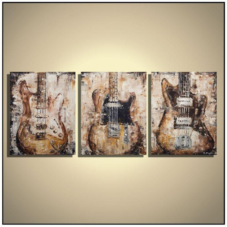 29 Best Guitar Paintings Images On Pinterest | Guitar Painting Within Guitar Canvas Wall Art (View 2 of 20)