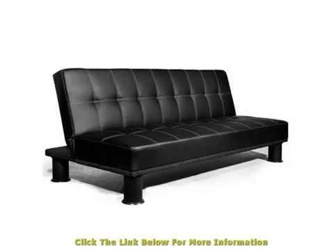 3 Seater Faux Leather Sofa Bed Futon Small Double Size Multi With Regard To Faux Leather Futon Sofas (Image 3 of 20)