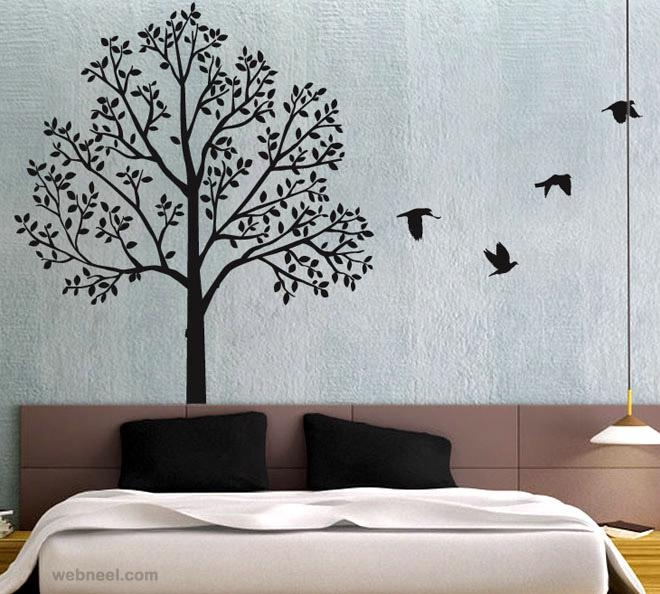30 Beautiful Wall Art Ideas And Diy Wall Paintings For Your Pertaining To Painted Trees Wall Art (View 8 of 20)