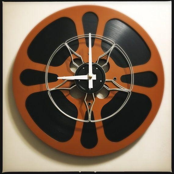30 Best Film Reel Wall Clocks Images On Pinterest | Film Reels Inside Film Reel Wall Art (Image 3 of 20)