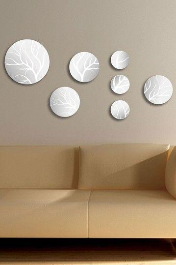 30 Best Mirrors Images On Pinterest | Mirrored Walls, Mirror Wall Throughout Mirror Circles Wall Art (Image 1 of 20)