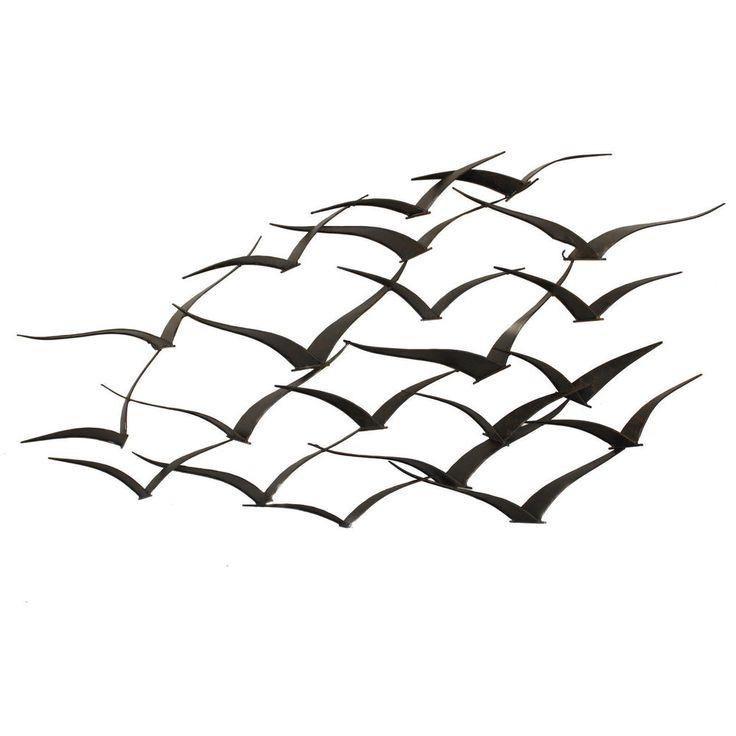 30 Best Wall Art Images On Pinterest | Metal Walls, Metal Wall Art Intended For Metal Wall Art Flock Of Seagulls (Image 5 of 20)