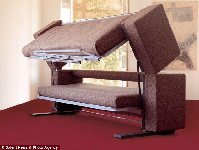3,000 Sofa That Transforms Into A Bunk Bed | Daily Mail Online Within Sofas Converts To Bunk Bed (Image 1 of 20)