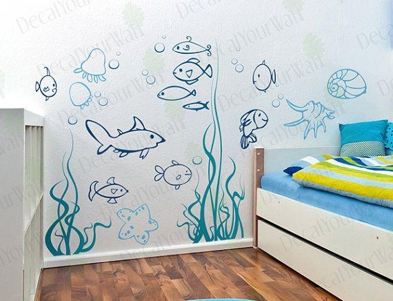 302 Best Creating With Decals Images On Pinterest | Home, Children Pertaining To Wall Art Stickers For Childrens Rooms (Image 2 of 20)