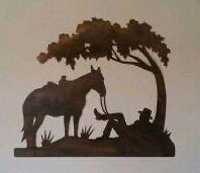 306 Best Plasma Cut Cowboys Images On Pinterest | Cowboys, Metal Inside Western Metal Wall Art Silhouettes (Image 1 of 20)