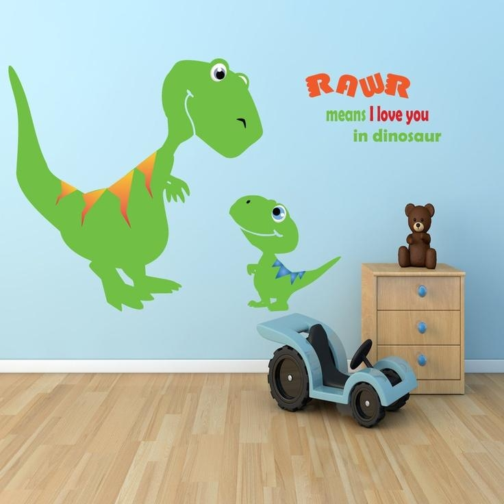 31 Best Boys Room Images On Pinterest | Bedroom Ideas, Children Pertaining To Dinosaur Wall Art For Kids (View 6 of 20)