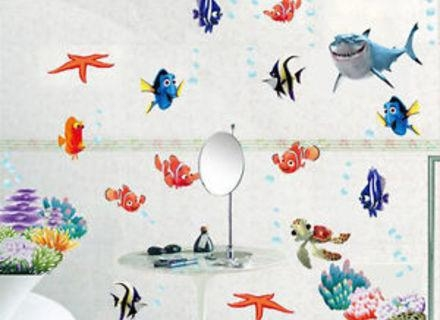 31 Finding Nemo Wall Decals, Cute Finding Nemo Wall Stickers Throughout Fish Decals For Bathroom (View 20 of 20)