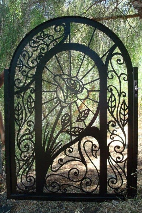 317 Best Metal Art Images On Pinterest | Wrought Iron Inside Metal Gate Wall Art (Image 6 of 20)