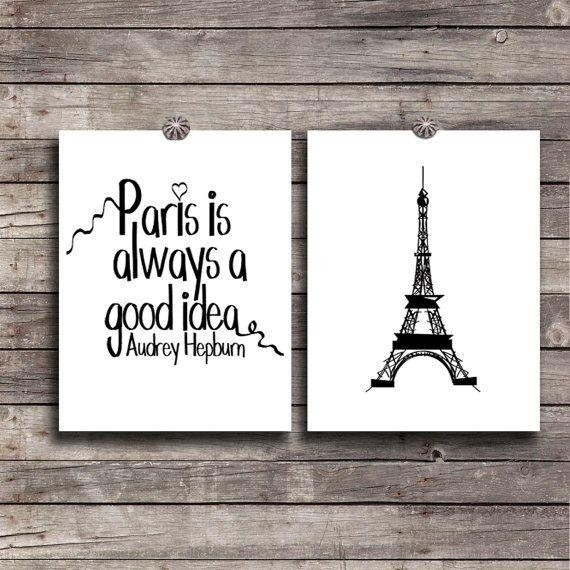 32 Paris Decals Wall Art, Wall Decal Huge Paris City Sticker Decor Pertaining To Paris Theme Wall Art (Image 6 of 20)