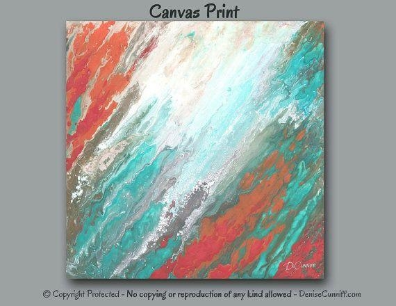 325 Best Art & Paintings – Abstract Art Images On Pinterest Within Red And Turquoise Wall Art (Image 4 of 20)