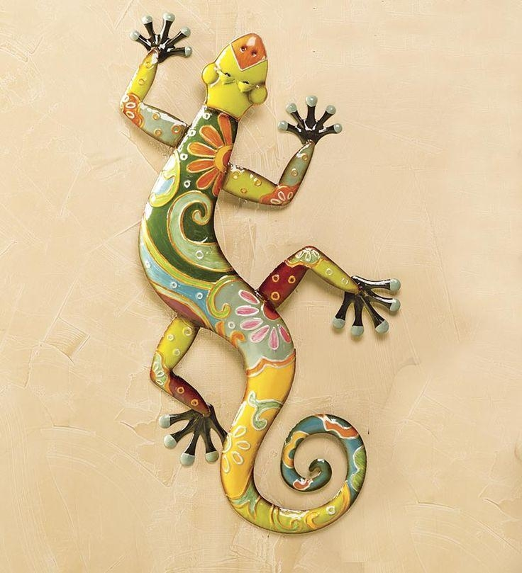 34 Best Painted Lizards Images On Pinterest | Iguanas, Geckos And Intended For Mexican Metal Yard Wall Art (Image 3 of 20)