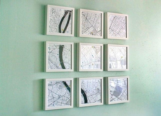 35 Clever Ways To Repurpose A Map | Brit + Co Regarding Maps For Wall Art (Image 3 of 20)