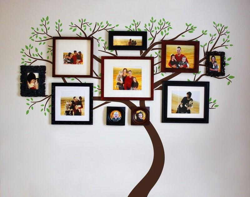 35 Family Tree Wall Art Ideas – Listinspired Intended For Family Photo Wall Art (View 5 of 20)